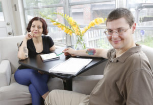 Through their organization Intentional Insights, Agnes Vishnevkin and Gleb Tsipursky provide research-based content to help people improve thinking, feeling and behavior patterns in order to achieve their goals. (Adam Cairns / The Columbus Dispatch)